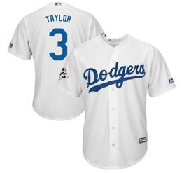 Wholesale custom wine coolers - Custom Los Angeles Dodgers Chris Taylor Majestic White 2018 World Series Bound Cool Base Player Jersey Sports Throwback mlb Cheap Jerseys us