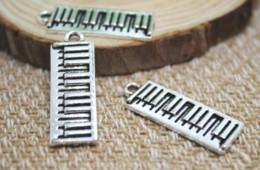 10 adet / grup-Antik Tibet Gümüş Piyano Charms Kolye, Klavye Müzik Charm Takı Yapımı 26x8mm supplier piano charm nereden piyano cazibesi tedarikçiler