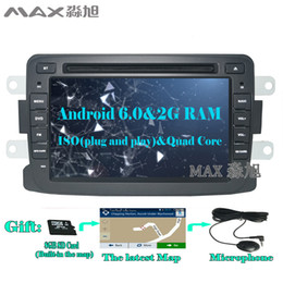 Wholesale Navi Radio - 2G RAM Android 6.0 Car dvd player for Renault Duster Sandero Lodgy Dokker 2013 2014 2015 Radio GPS Navi free map stereo