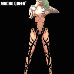 traje de tatuaje Rebajas Drag Queen Disfraces Sexy Tatuaje Estampado Mono Mono Celebrity Runway Mujeres Outfit Cumpleaños Fiesta Desgaste