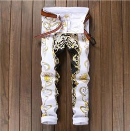 2018 neue Jeans Herren Frühjahr und Sommer koreanische Version des Trends  der Selbst-Kultivierung Druck gewaschene bemalte handbemalte Hosen a6e7275905