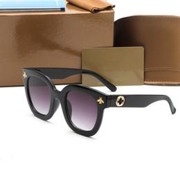 Wholesale Stars Drive - 2018 new big frame bee 0116 sunglasses with logo women fashion star style brand polarized sun glasses hot sale retro vintage mirror glasses