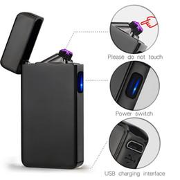 2018 Yeni Çift ARK Elektrik USB Çakmak Şarj Edilebilir Plazma Rüzgar Geçirmez Darbe Alevsiz Çakmak renkli şarj usb çakmaklar nereden ruj seç tedarikçiler