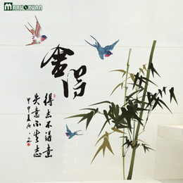 Wholesale text stickers - New Factory Direct Calligraphy Text Willing To Chinese Style Background Wall Stickers Can Be Removed Pvc Wall Stickers