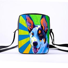 Bolsas de españa online-Personalizar señoras Messenger bag girls mini bag 3D animal de dibujos animados lindo perro imprimir niños hombro colgado damas España