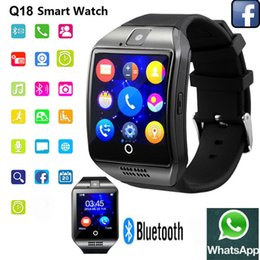 Wholesale Wrist Smartphone - Q18 Bluetooth Smart Watch Support SIM Card NFC Connection Health Smartwatches For Android Smartphone With Retail Package