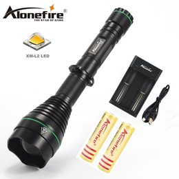 Wholesale hunting light bulbs - AloneFire X480 Powerful Flashlight CREE XM-L2 led Bulb Focusable Zooming Flashlight Torch Camping Led Lamp Light