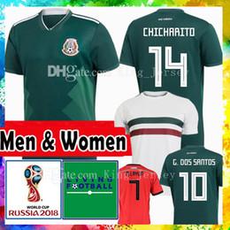 Wholesale h cup - Men Women Thai world cup MEXICO Soccer jersey Brasil 14 CHICHARITO H. LOZANO G. DOS SANTOS R. MARQUEZ A. GUARDADO M. LAYUN Football uniforms