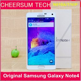 Wholesale Mobile 3g Phone - Refurbished Unlocked Samsung Note 4 Cell Phone with 3gb Ram and32gb Rom 3g 4g 5.7''Touch N910A N910T N910V N910P N910F Mobile Phone free DHL