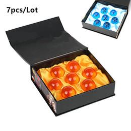Estrela de dragonball concluída on-line-Nova Animação DragonBall laranja azul 7 Estrelas sobre 3.5 CM Super Saiyan Dragon Ball Z Conjunto Completo Caixa de brinquedos 7 pçs / caixa