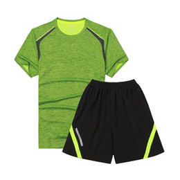Wholesale Reflective Running Clothes - 2017 Men's Sportswear Survetement Men Sport Gym Running Kit Reflective Soccer Tracksuits Jogging Suits Men Gym Clothing Set