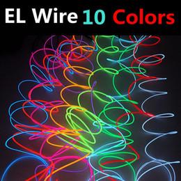 EL Fil Lumière 1 M 3 M 5 M 6 M 8 M 10 M DIY Led Bande Flexible Neon Glow Lumière Lumières De Guirlande Pour La Danse De Soirée De Mariage TV Voiture Décoration ? partir de fabricateur