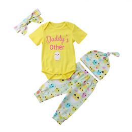 Pâques infantile bébé fille enfant vêtements à manches courtes coton barboteuse combinaison salopette + pantalons longs Hat Outfit vêtements ? partir de fabricateur