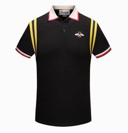 Wholesale Mens Polo Shirt Embroidery - New Luxury Brand embroidery t shirts for men Italy Fashion poloshirt shirt men High street Snake Little Bee Tiger print mens polo shirt