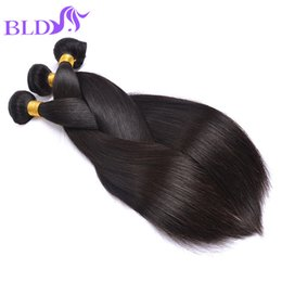 Wholesale Human Hair Weave Malaysia - Brazilian Straight Human Hair Weaves Weft Cheap Hair Extensions Malaysia Peruvian Indian Double Weft 95-100g Human Hair