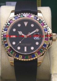 Montre arc-en-ciel en Ligne-Montres de luxe 2018 RAINBOW Diamond 18K ROSE GOLD 116695SATS Nouveau dans la boîte automatique Fashion Brand Mens Watch Wristwatch