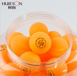 Wholesale Pong Stars - Huieson 60pcs barrel Professional 3 Star Table Tennis Balls 40mm 2.9g Ping Pong Ball Yellow White for Table Tennis Game Training