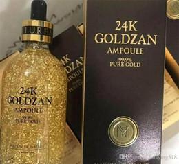 essenz make-up Rabatt Neue Ankunft Haut 24 Karat Goldzan Ampulle Gold Tagescreme Feuchtigkeitscremes Gold Essenz Serum Make-up Primer 100 ml