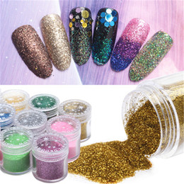 Wholesale Jars For Decoration - 2018 new 24 color Glitter Powder Sequins for Slime Glitter Shaker Jars Set packing for Scrapbooking Face Nail Art Non-Toxic Color Gift Box
