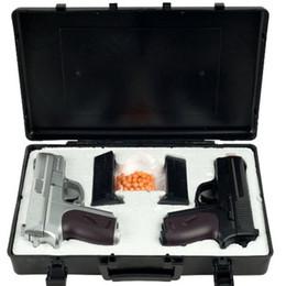 Airsoft fällen online-NEU CYMA TWIN FEDER AIRSOFT DUAL PISTOL COMBO PACK SET Handpistole mit Koffer 6mm BB