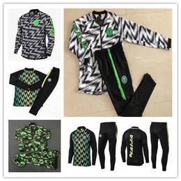 ba0f73c99 2018 2019 Mondiali Nigeria Tuta da allenamento SOCCER JERSEY 18 19 Nigeria  IWOBI chandal FOOTBALL Giacca manica lunga kit da tuta Abbigliamento  sportivo