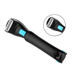 цены триммеров Скидка Электрическая задняя бритва растягивающийся назад бритва для мужской задней волос бритья складной W5985