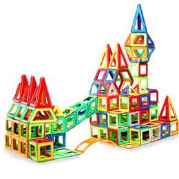 Wholesale Big Building Blocks Children - 199PCS Big Size Magnetic Designer Building Blocks Model & Building Toys Brick Enlighten Bricks Magnetic Toys for Children