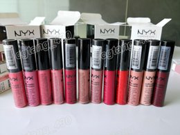 Wholesale Charm Color Cosmetics - Best Quality NYX Liquid 12 colors Soft Matte Lip Cream Lipstick Charming Long-lasting Pucker Up For The Holiday Cosmetics free