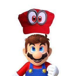Wholesale Super Mario Cosplay Hat - Game Super Mario Odyssey Adult Cap Child Cosplay Handmade Caps