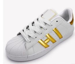 Wholesale Bright Fabrics - New Laser flash shoes women casual shoes superstar shoe lace up women men flats Bright laser shoes