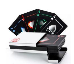1 Set Poker Metal Box Пластиковые игровые карты 54 Карты Двусторонняя матовая взрослая водонепроницаемая настольная игра Family Fun Poker от