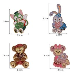 Wholesale Bear Kitty - Free Shipping Jewelry Cartoon Cute Rabbit Cat Bunny Kitty Bear brooch pin for women