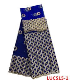 Wholesale Lace Fabric Swiss - Newest soft cotton lace Swiss fabric cotton embroidery lace with matching blouse set for wedding