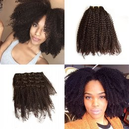 Wholesale Thick Curly Hair Extensions - Double Weft 100% Remy Human Hair Clip in Extensions 8-24 inch Thick Long Afro Kinky Curly 7pcs for Women FDshine
