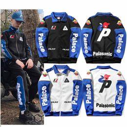 Wholesale Mens Suit Jacket Pattern - Palace Jackets Zippered Mens bomber jackets PALACE YAMAN TRACK TOP Racing Motorcycle Suit designer hoodie luxury Sportwear Loose streetwear