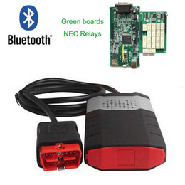 Wholesale French Board - High quality Green double board 150e CDP pro 2015R3 with Bluetooth DS with Activator for OBD2