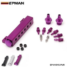Wholesale Race Manifold - Tansky - EPMAN Racing High quality 6-Port Vacuum manifold kits (SILVER,, PURPLE, BLACK) Have in stock EP-01SYG