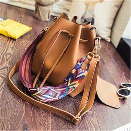 Wholesale designers bag straps - Women Designer Handbags New Water Bucket Fashion Color Shoulder Strap Shoulder Bag Casual Bag Ladies Messenger Bags Handbag Tote Bags