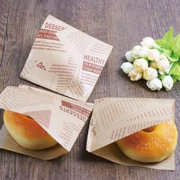 Canada Motif anglais Alimentaire Preuve D'huile Sac De Papier Alimentaire Sac De Triangle Main Saisir Gâteau Sandwich Donut Enveloppé Pain Sacs En Papier En Gros Offre