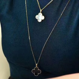 Wholesale Gold Plated Pearl Jewellery - 90cm V necklace Paris long pendant necklace Big clover love expend glory riches V party Titanium necklaces 1906 Mother of Pearl Jewellery