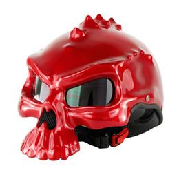 Capacetes de motocicleta personalizados on-line-Motocicleta Crânio Capacete Capacetes De Moto Personalizado Harley Meia Face Retro Casque Masei 489