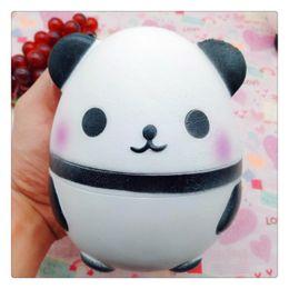 Wholesale Panda For Kids - Panda eggs Squishy Jumbo Cute Panda Kawaii Cream Scented Kids Toys Doll Gift Fun Collection Stress Relief Toy Hop Props
