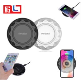 Wholesale Armor Shipping - Armor Ridge Qi Wilress Charger Wireless Phone Charger For Samsung Galaxy S8 For Iphone 8 Fast Charging and Normal Charging Ship DHL Free