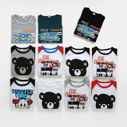 duck t shirts Coupons - Autum Spring kid baby boys girls shirt long sleeve animal T-shirt bear bus duck letter print Tops kids boy girl clothing undershirts 6M-5T