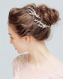 Wholesale Wedding Elegant Headdresses - Elegant Bridal Headdress Wedding Hair Combs Bridal Crystal Pearl Hairpins Bridal Headpiece Fashion Women Girls Hair Comb Jewelry Accessories