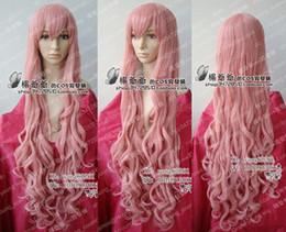 VOCALOID лука длинные темно-розовый вьющиеся волосы парик 100 см длинные парики косплей cheap wig luka от Поставщики парик лука