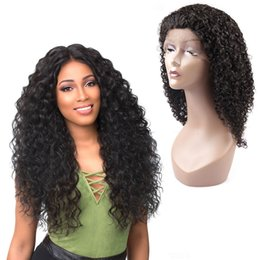 Wholesale Glueless 22 Inch Lace Wig - MI Hair Short Glueless Lace Front Human Hair Wigs With Baby Hair 16 Inch to 30 Inch Brazilian Remy Short Curly Wigs Bleached