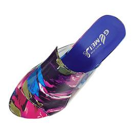 Sexy tacones altos coloridos online-Sandalias de las mujeres 2018 Zapatillas de verano para mujer Zapatos Mujeres Sandalias de tacón alto de moda Moda Rhinestone colorido Zapatos de fiesta de verano
