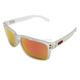 e60aeade96 O Gafas de sol de diseño de lujo OO9102 Moda deportes Marca Gafas HB Mate  Blanco / Ruby Mercury IRIDIUM Lente polarizada Envío Gratis