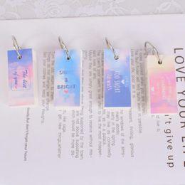 Rainbow memo pads en Ligne-1 Pcs Kawaii Nouveauté Ciel Arc-En-Ciel Mini Journal Journal De Poche Bloc-Notes À La Main Mémo Pad Étude Journal Bobine Spirale Vocabulaire Livre Papeterie